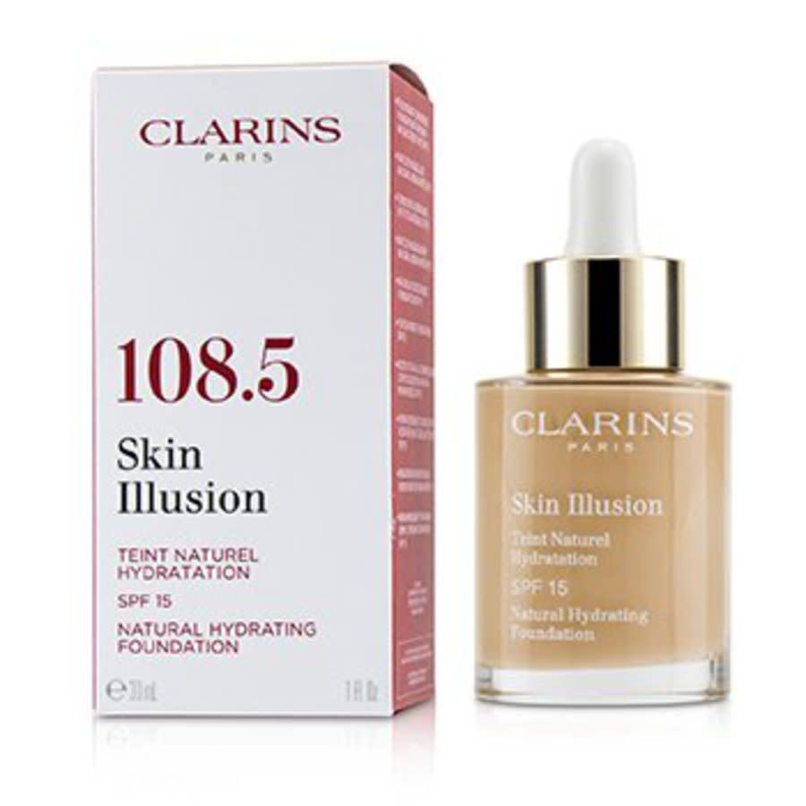 Clarins - Skin Illusion Natural Hydrating Foundation Spf 15 # 108.5 Cashew 30ml/1oz In N,a