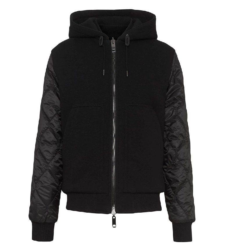 Burberry Reversible Diamond Quilted Hooded Jacket In Black