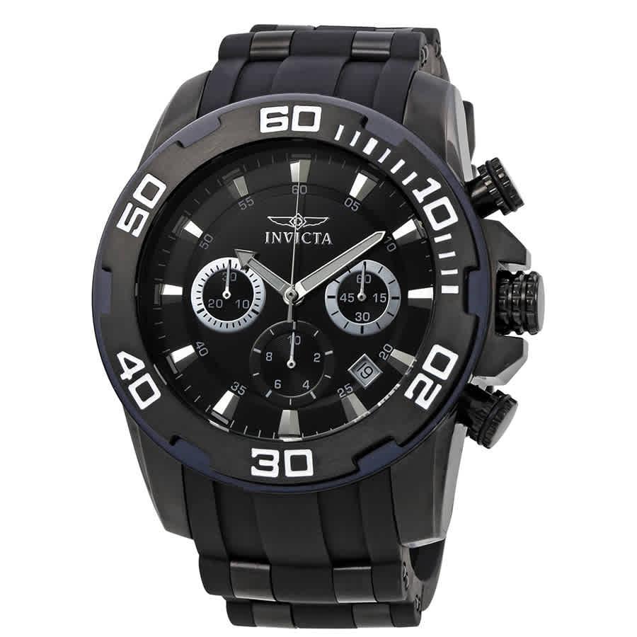 Invicta Pro Diver Chronograph Black Dial Mens Watch 22338