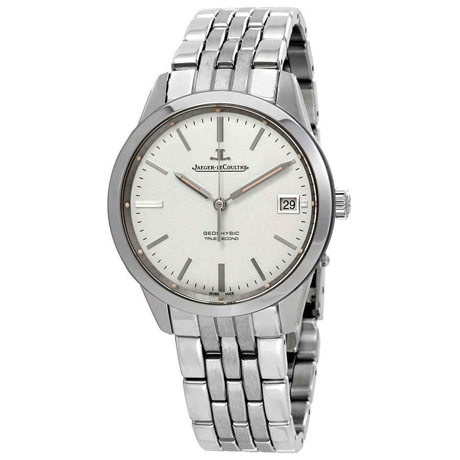 Jaeger-lecoultre Geophysic True Second Automatic Silver Dial Mens Watch Q8018120 In Metallic