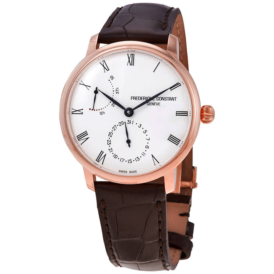 Frederique Constant Slimline Automatic Silver Dial Mens Watch Fc-723wr3s4 In Black,brown,gold Tone,pink,rose Gold Tone,silver Tone