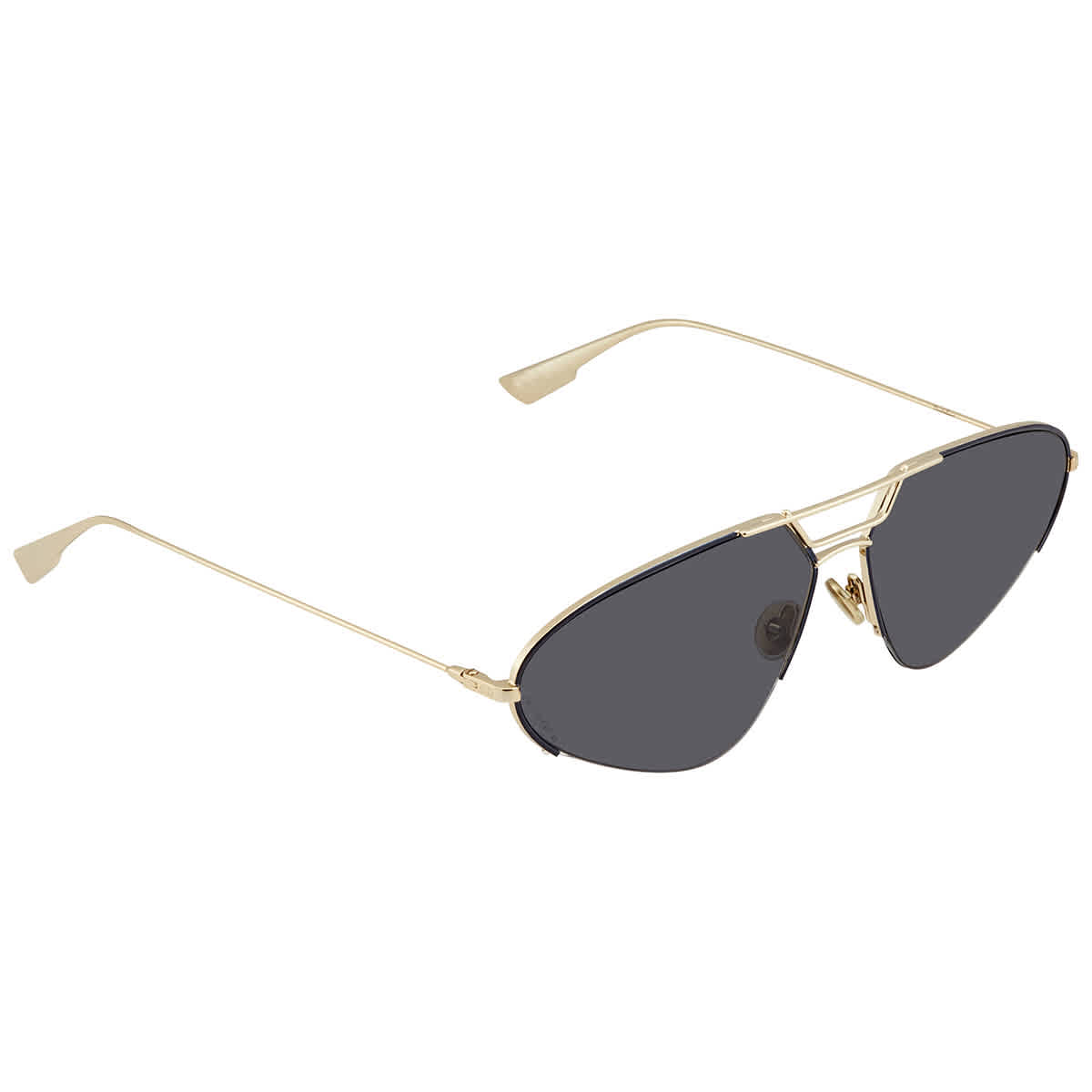 Dior Grey Aviator Ladies Sunglasses Stellaire5 0000/2k 62 In Gold Tone,grey,pink,rose Gold Tone
