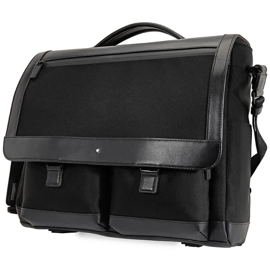 Montblanc Nightflight Sigle Gusset Black Mens Briefcase118245