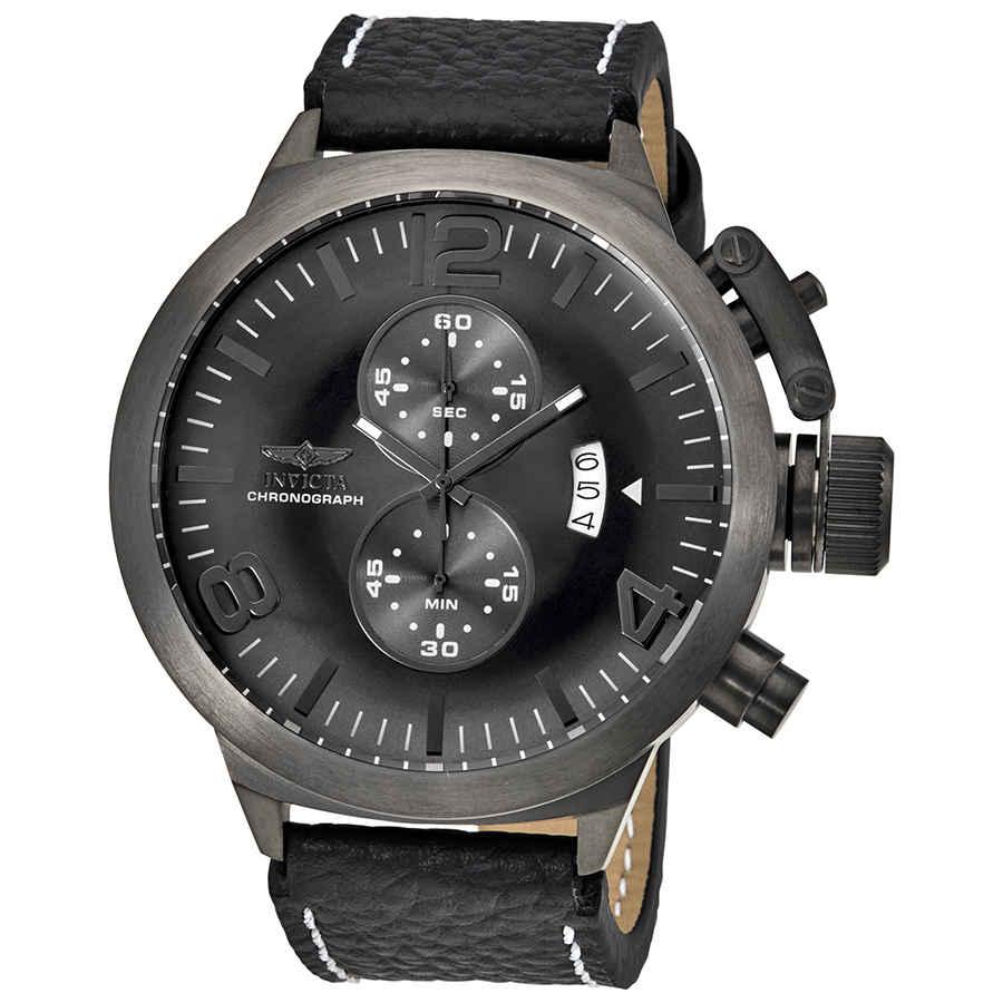 Invicta Corduba Chronograph Grey Dial Mens Watch 23689 In Black,grey,gunmetal