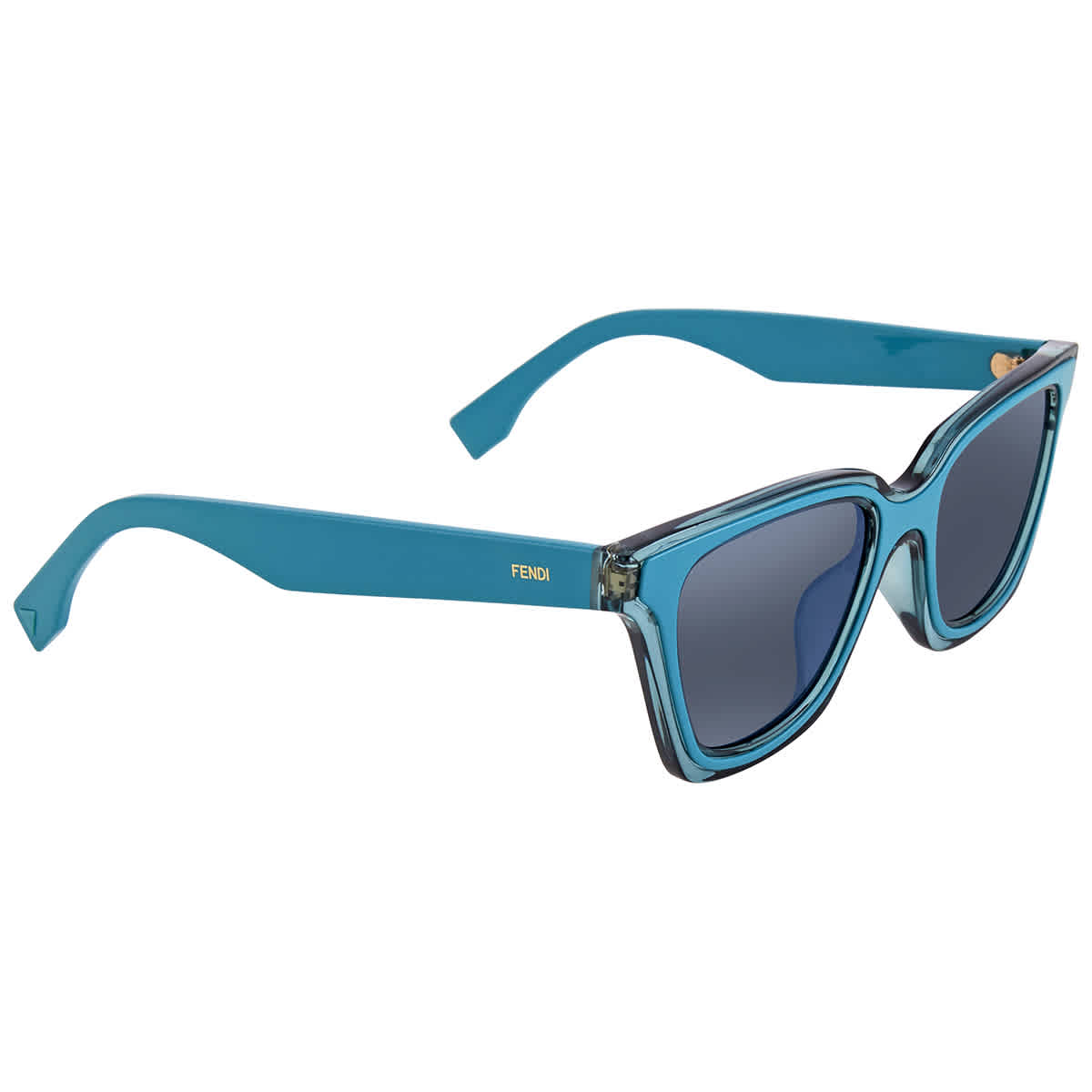 Fendi Turquoise Sunglasses Ff 0195/s Klb -50 In Blue
