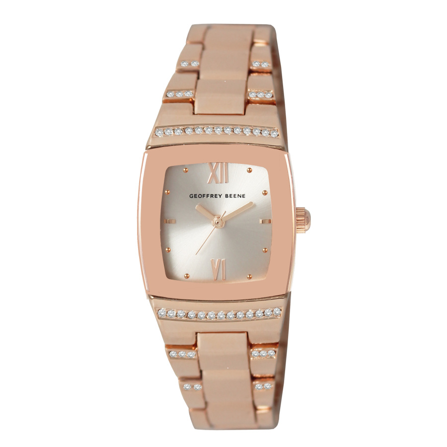 Geoffrey Beene Quartz White Dial Ladies Watch Gl0004rg In Metallic