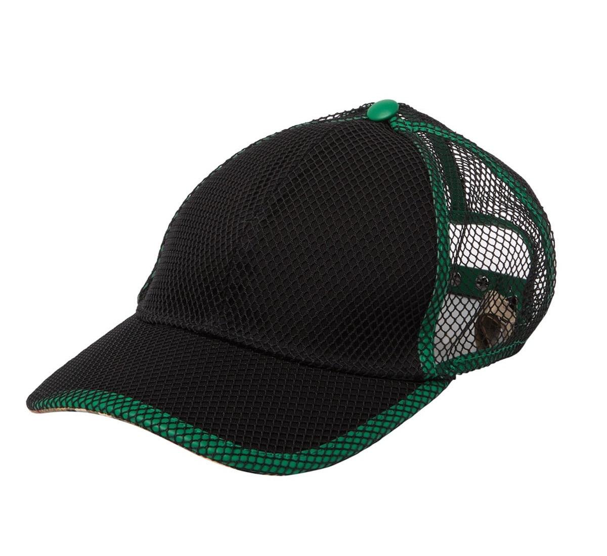 Burberry Alh Netted Baseball Cap In Black