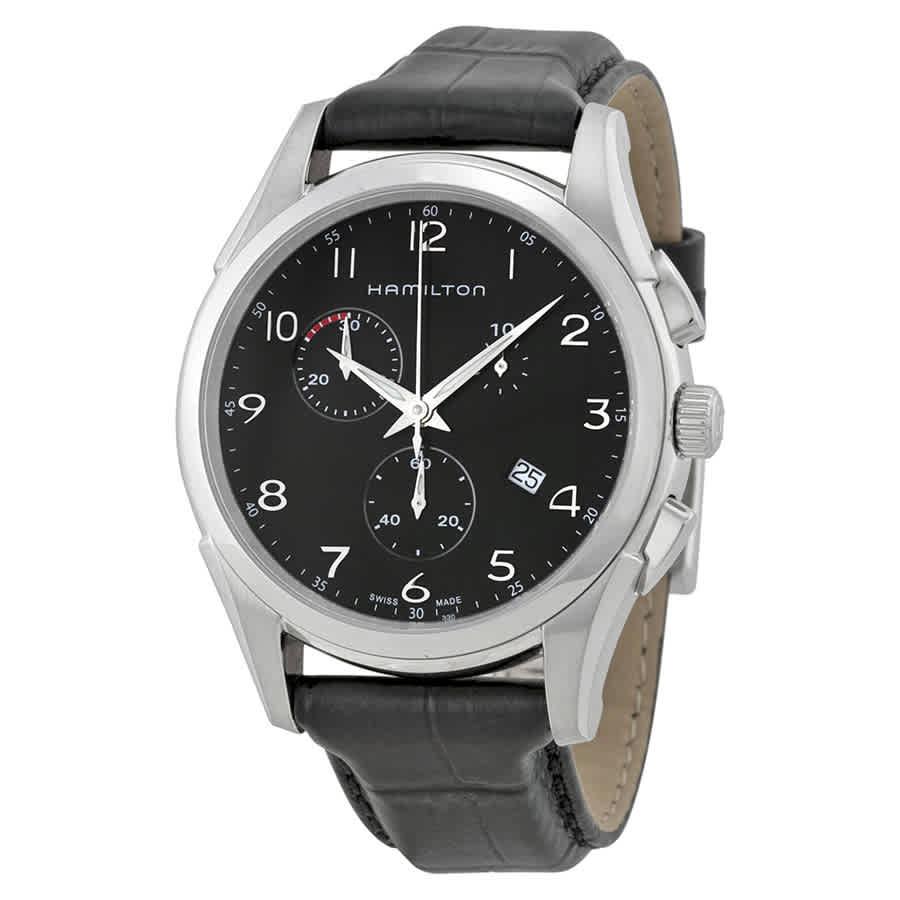 Hamilton Jazzmaster Thinline Chronograph Black Dial Mens Watch H38612733