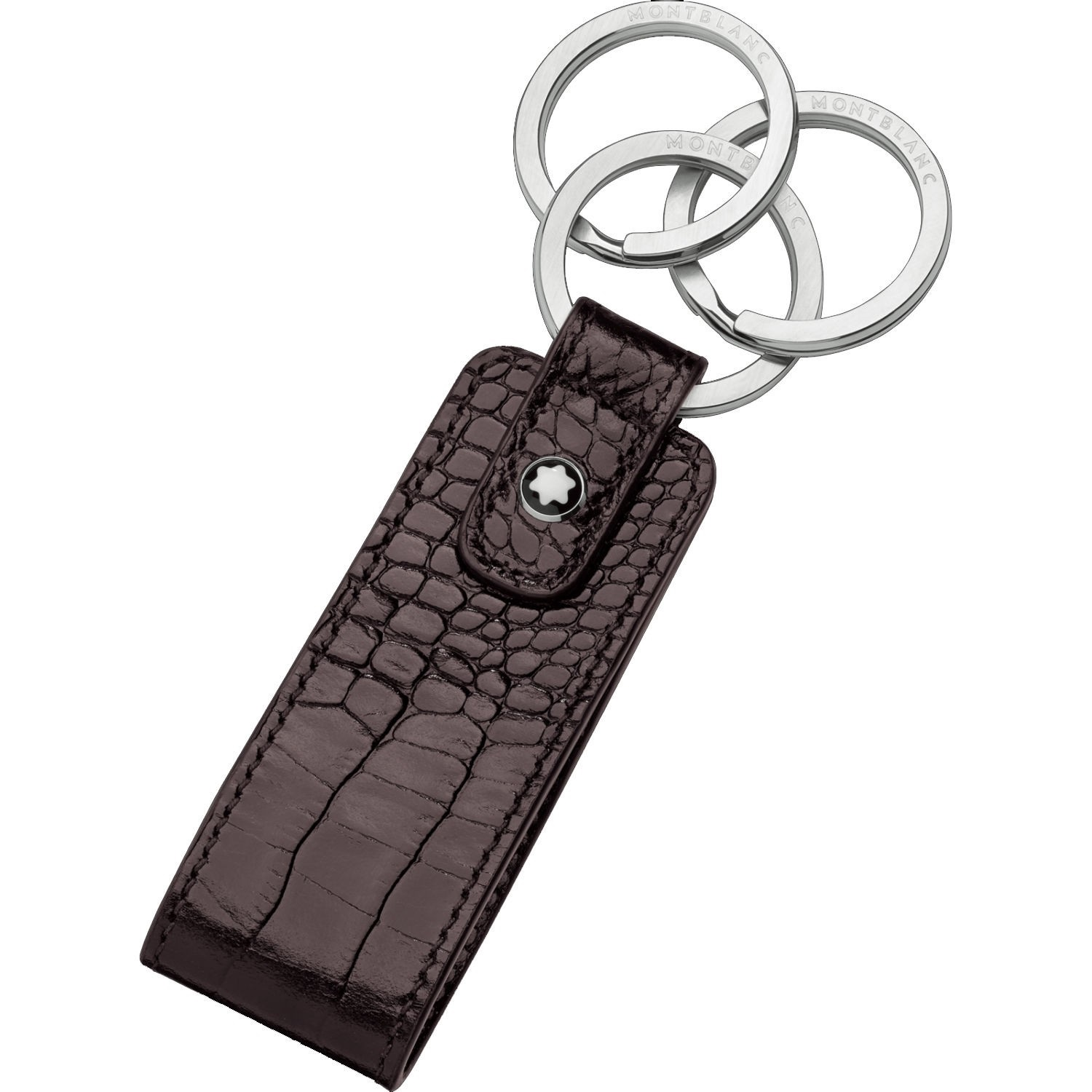 Montblanc Meisterstuck Selection Leather Key Fob In Black