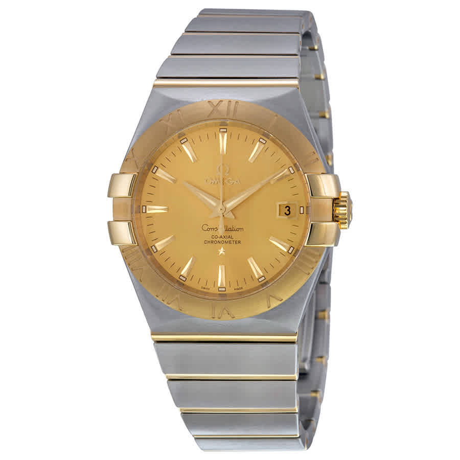 OMEGA CONSTELLATION CHAMPAGNE DIAL MENS WATCH 123.20.35.20.08.001