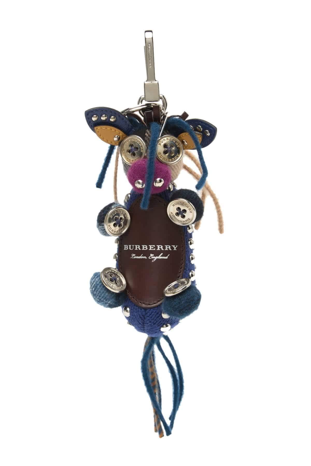 Burberry Mable Donkey Key Charm In Blue