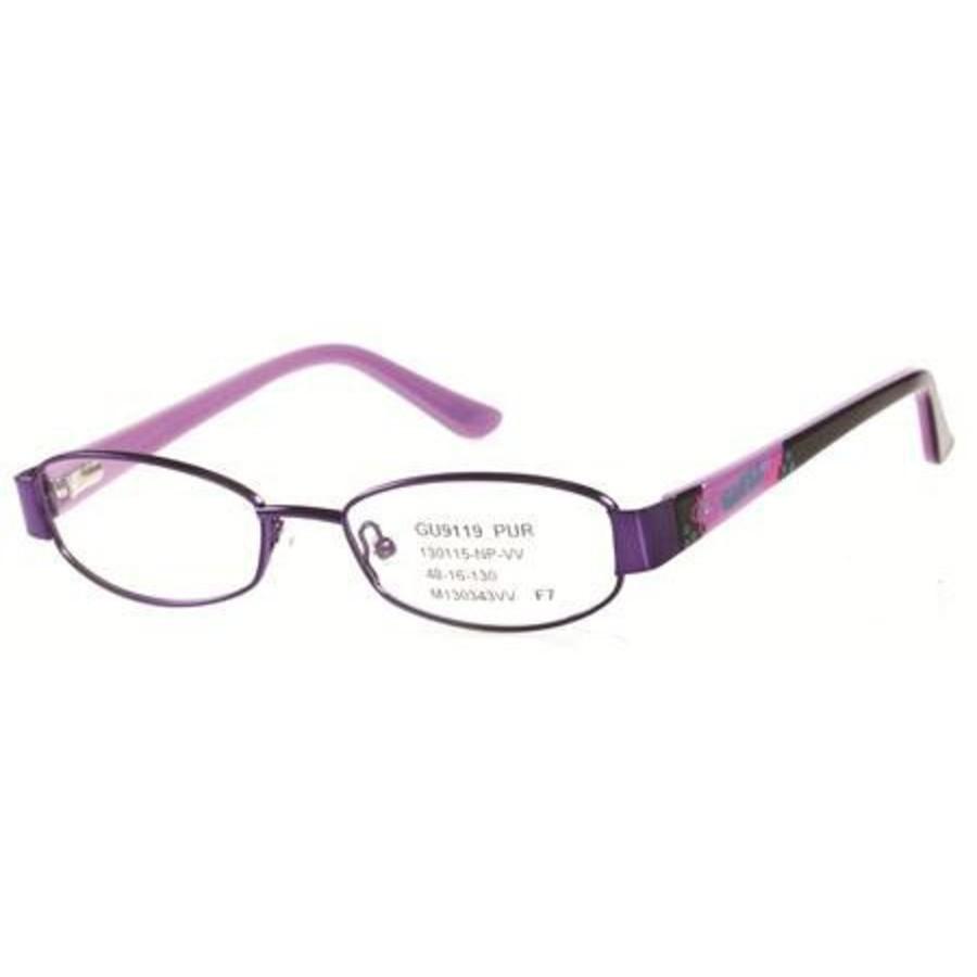Guess Unisex Purple Round Eyeglass Frames Gu9119(gu9119)o2448
