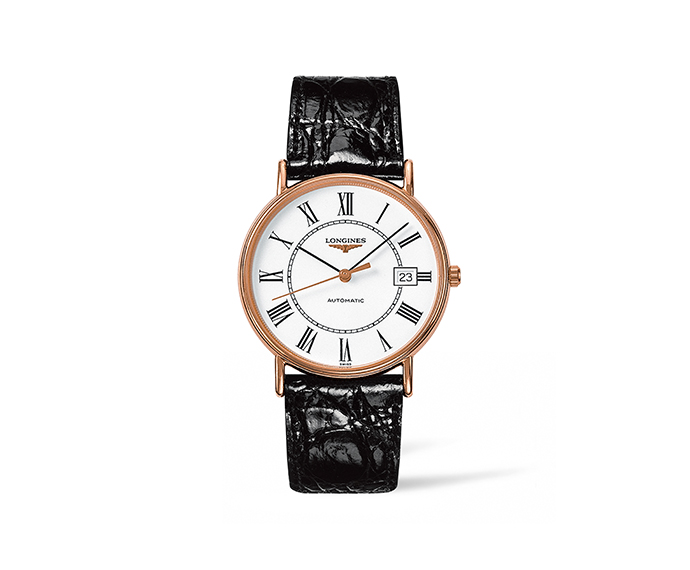 Longines Presence Automatic White Dial Mens Watch L4.921.1.11.2 In Black