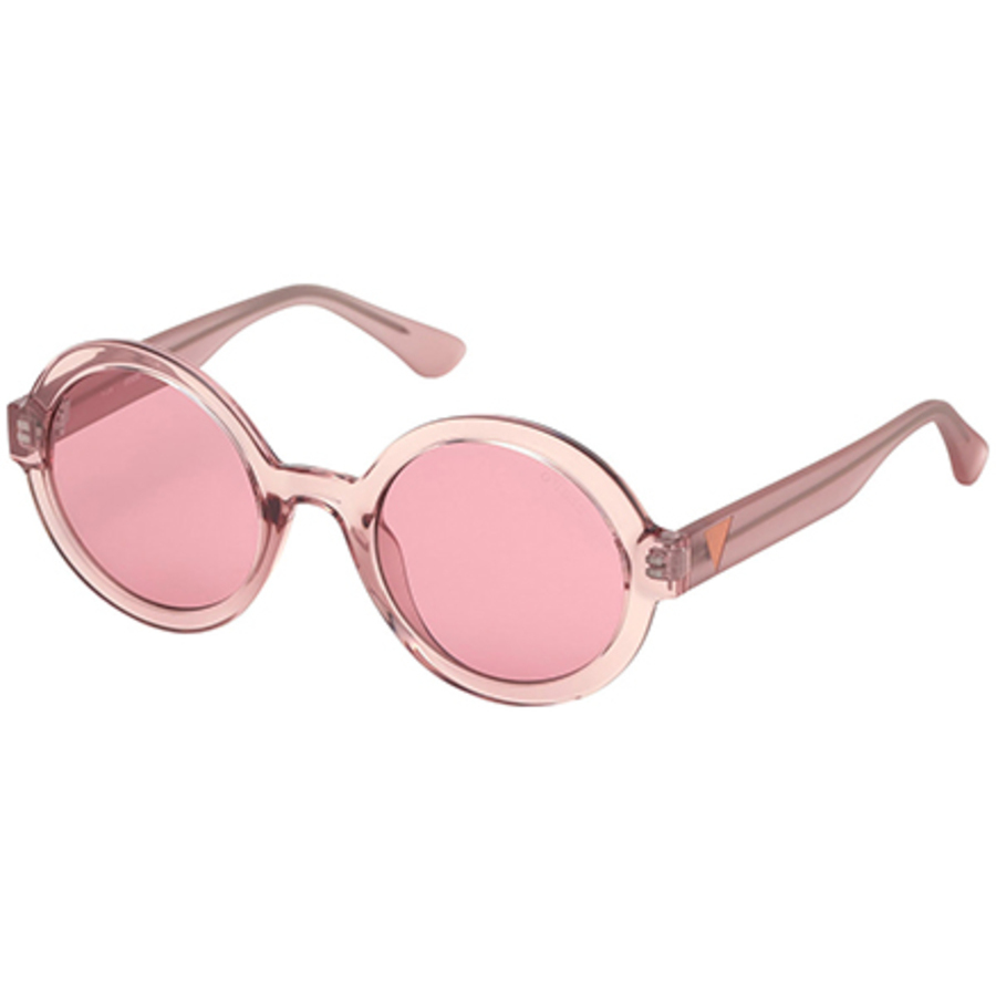 Guess Ladies Pink Round Sunglasses Gu761374s50