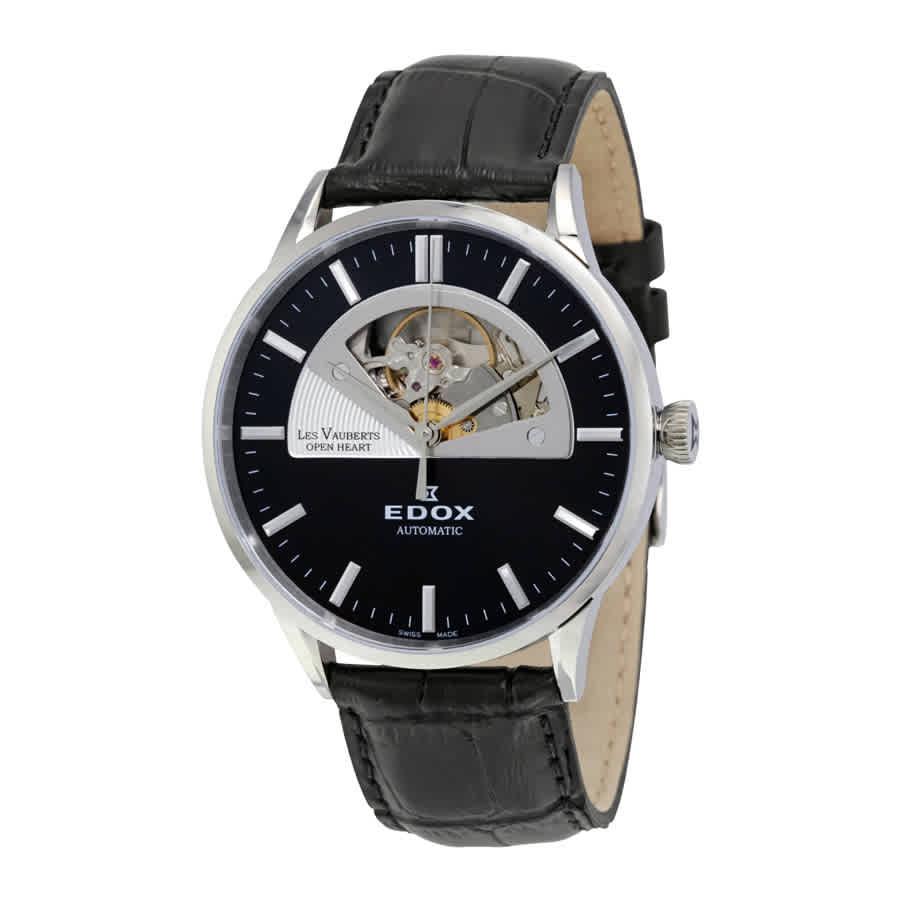Edox Les Vauberts Automatic Mens Watch 85014 3 Nin In Black