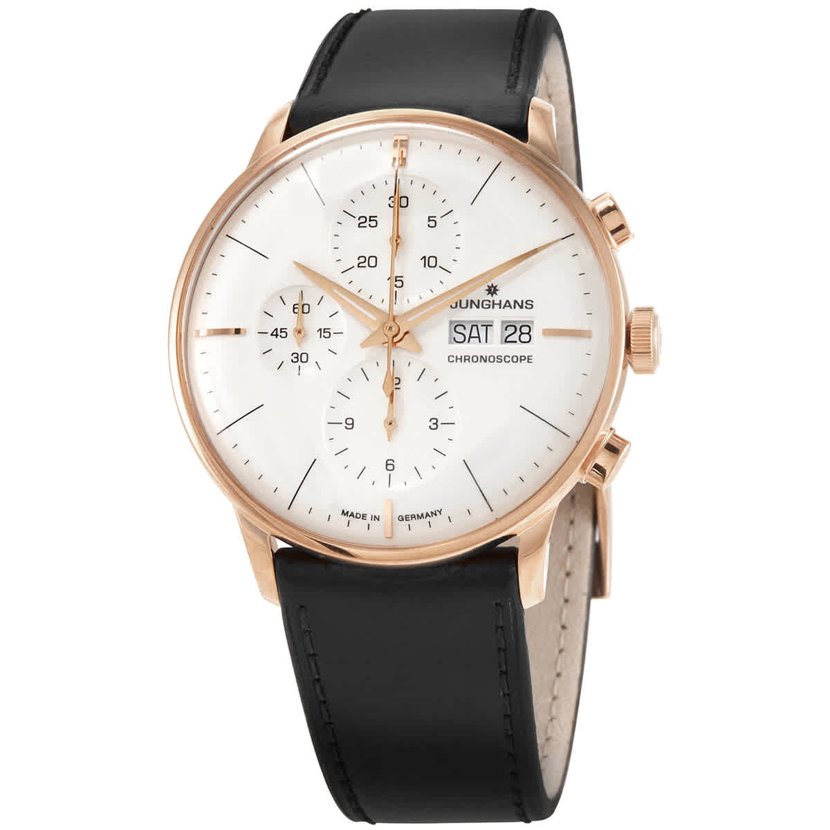 Junghans Chronograph Automatic Silver Dial Mens Watch 027/7023.01 In Black