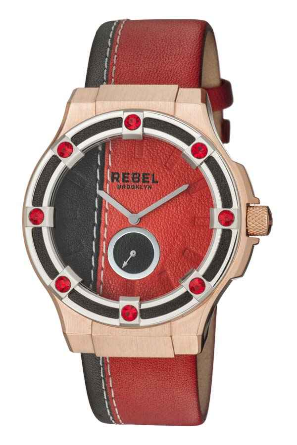 Rebel Flatbush Ladies Watch Rb119-5181 In Black,red,two Tone