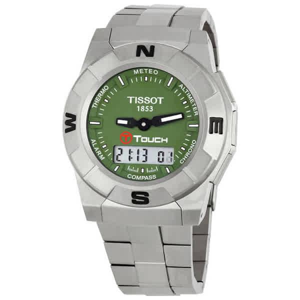 TISSOT T-TOUCH TRECK PERPETUAL ALARM WORLD TIME QUARTZ MENS WATCH T001.520.44.091.00