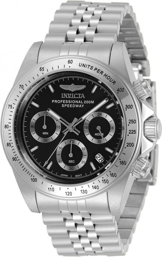 Invicta Speedway Chronograph Quartz Black Dial Mens Watch 30989 In Metallic