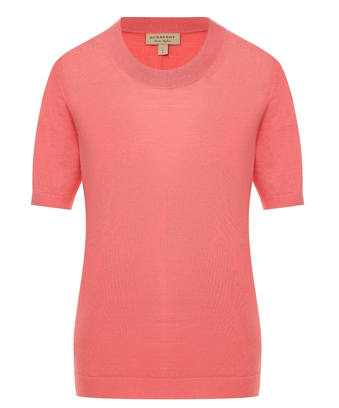 Burberry Short Sleeve Merino Wool Sweater In Pink