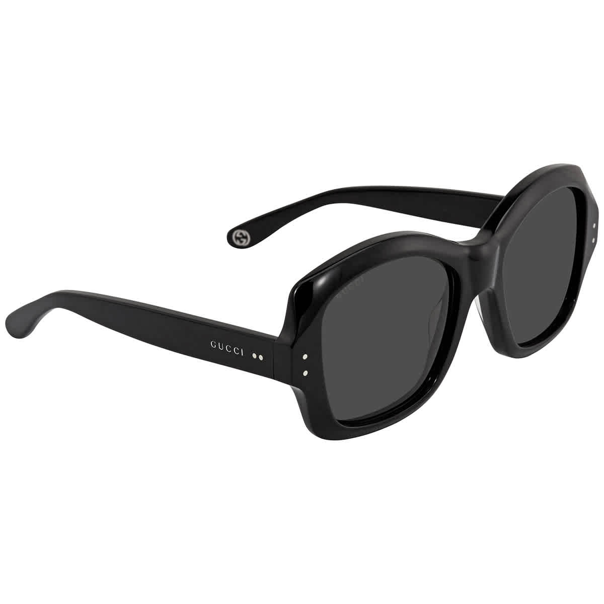 Gucci Grey Butterfly Sunglasses Gg0624s 001 57 In Black