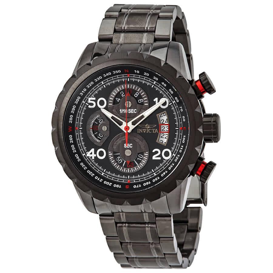 Invicta Aviator Chronograph Black Dial Mens Watch 28155