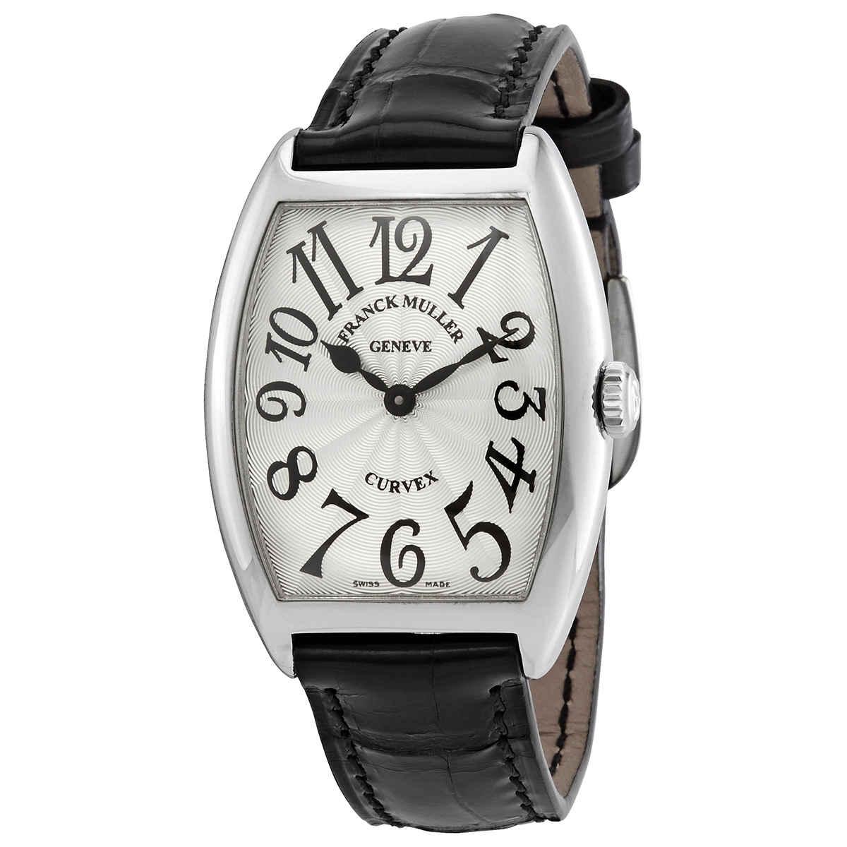 Franck Muller Cintree Curvex Quartz Silver Dial Unisex Watch 7502 Qz (ac) In Black,silver Tone