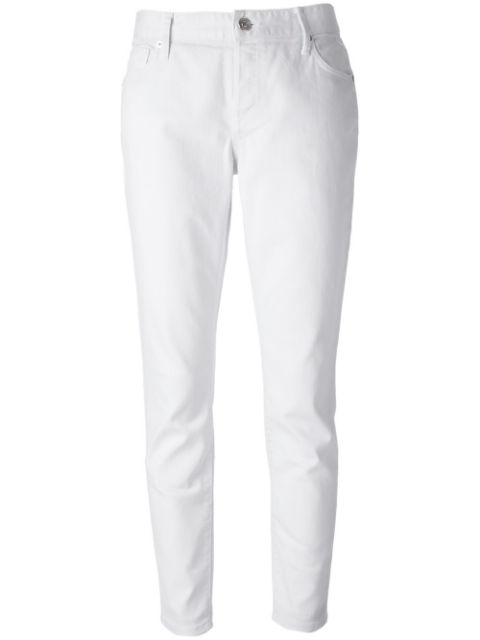 Burberry Ladies Slim Fit Jeans In White