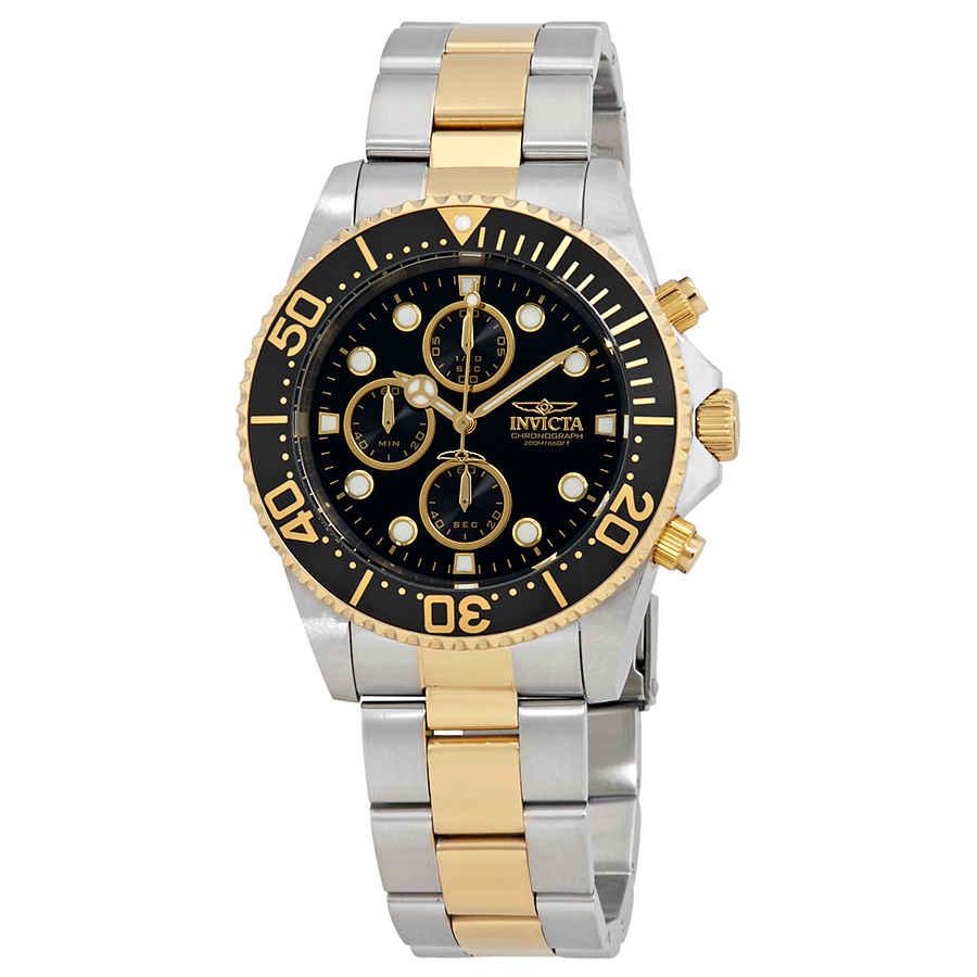 Invicta Pro Diver Chronograph Mens Watch 1772 In Black