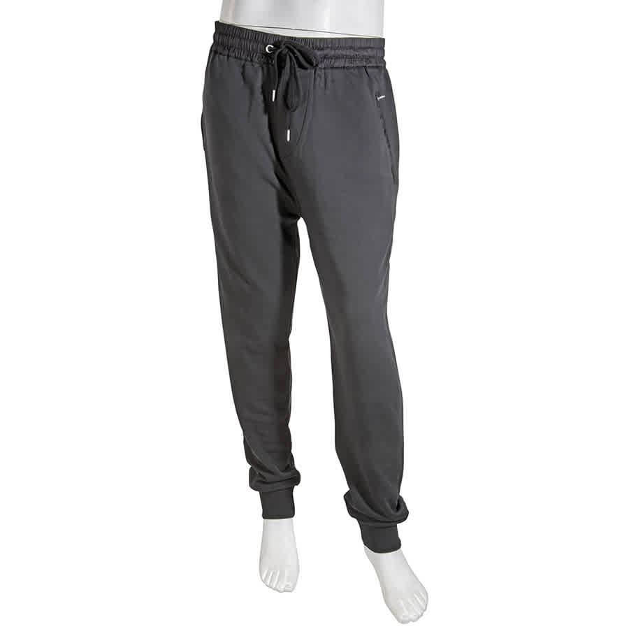 Burberry Mens Black Brit Haleford Cotton Sweatpants