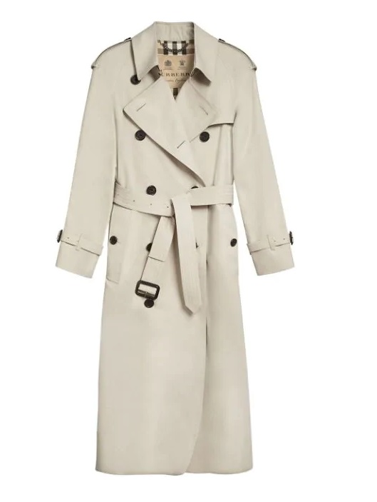 Burberry The Westminster Extra-long Trenchcoat In Stone In N,a