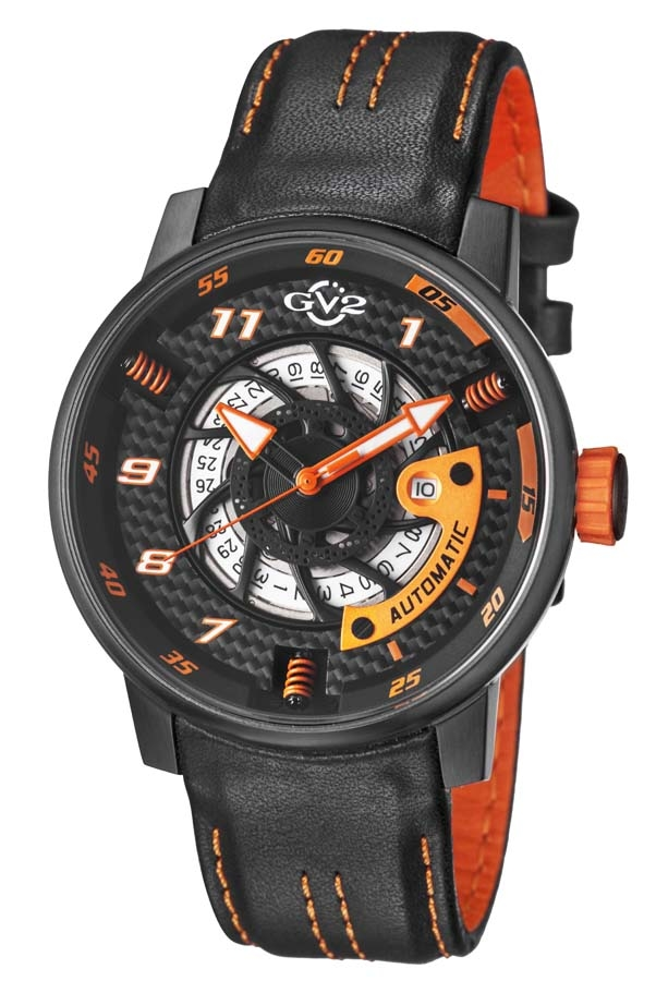 Gv2 By Gevril Motorcycle Sport Automatic Black Dial Mens Watch 1304