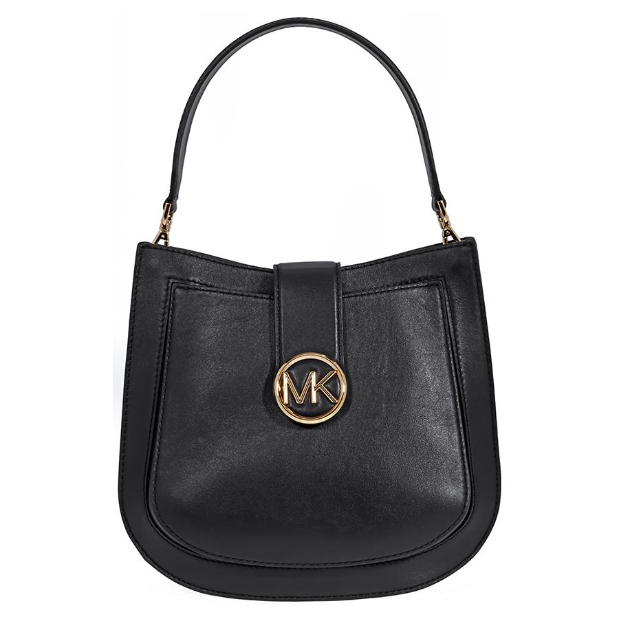 cb9167a0d559 Michael Kors Lillie Medium Leather Shoulder Bag- Black