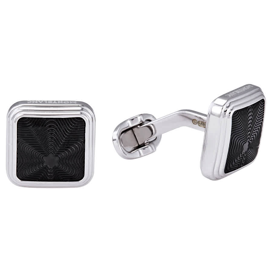 Montblanc Star Silver Cufflinks In Metallic