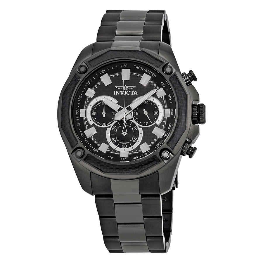 Invicta Aviator Chronograph Black Dial Mens Watch 22807