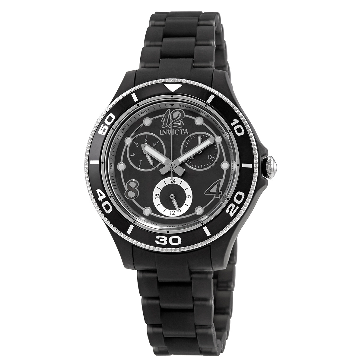 Invicta Anatomic Quartz Black Oyster Dial Ladies Watch 30372