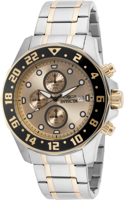 Invicta Specialty Chronograph Gold Dial Mens Watch 15940 In Metallic
