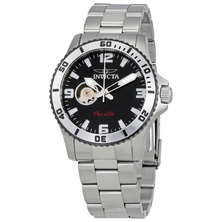 Invicta Objet D Art Automatic Black Dial Mens Watch 22624 In Metallic