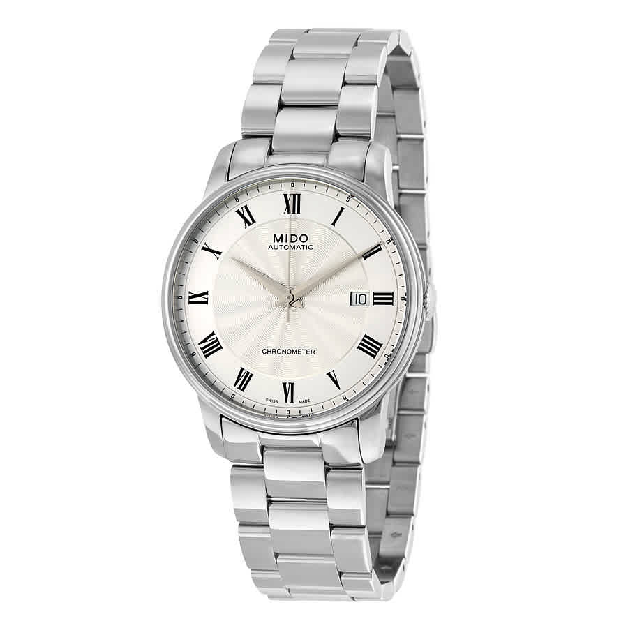 Mido Baroncelli Chronometer Automatic Silver Dial Mens Watch M0104081103300 In Metallic