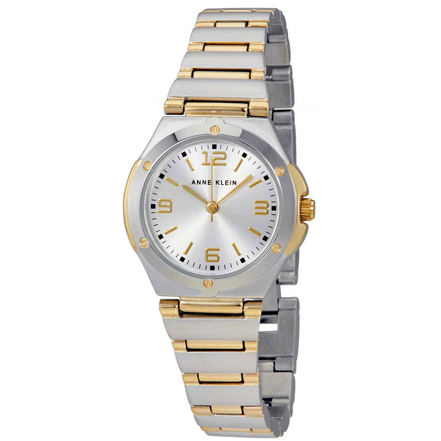 Anne Klein Silver Dial Ladies Watch 10-8655svtt In Metallic