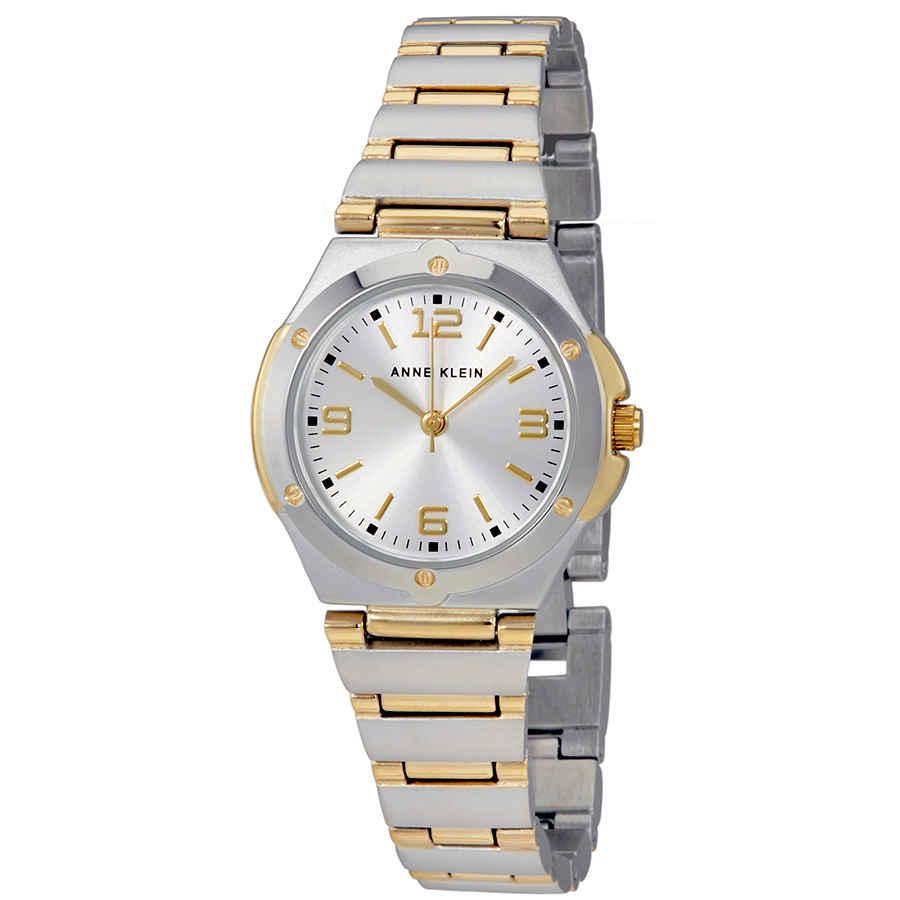 Anne Klein Silver Dial Ladies Watch 10-8655svtt In Metallic