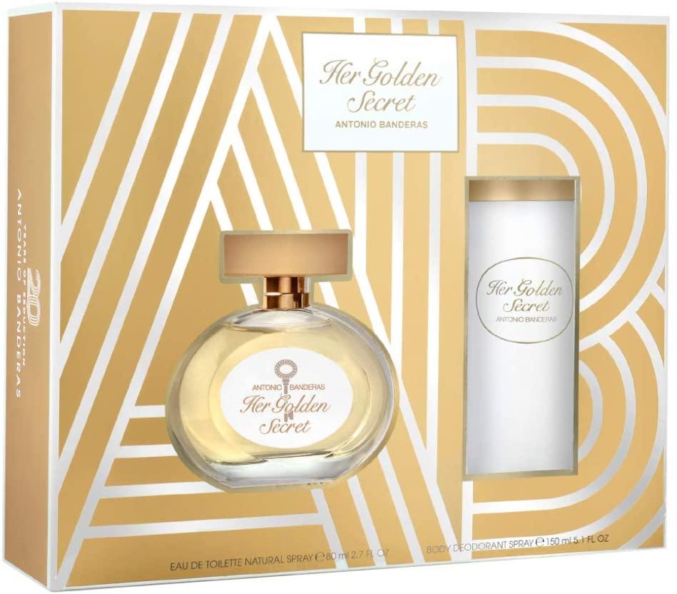 Antonio Banderas Ladies Her Golden Secret Gift Set Fragrances 8411061920237 In Gold Tone,orange