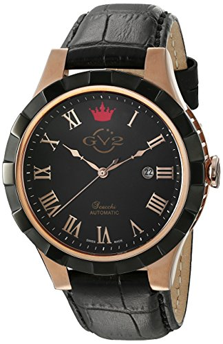 Gv2 By Gevril Scacchi Black Dial Automatic Mens Watch 9505