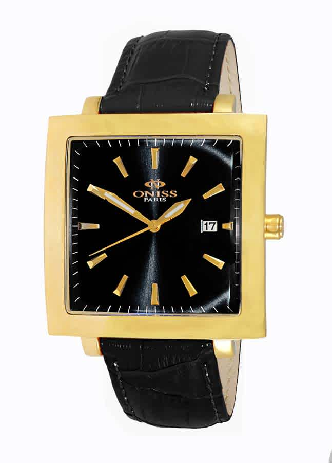 Oniss On4444 Black Dial Mens Watch Onj4444-0gbk In Black,gold Tone