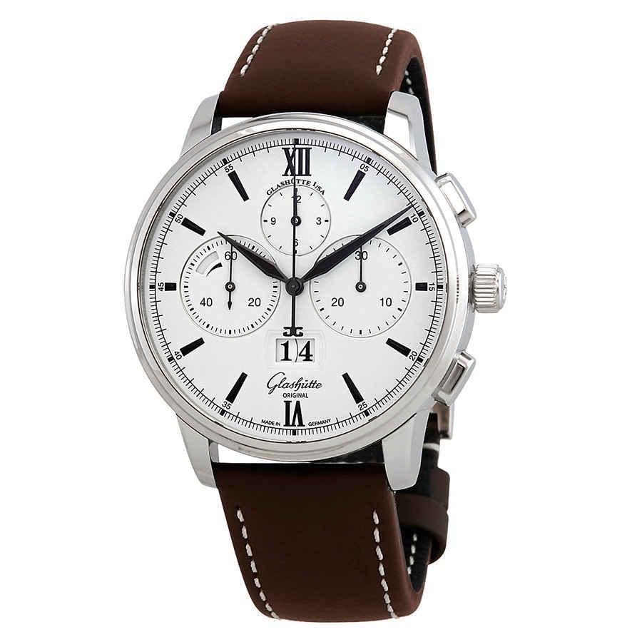 Glashutte Glashuette Senator Automatic Chronograph Mens Watch 1-37-01-05-02-35 In Black,brown,silver Tone,white