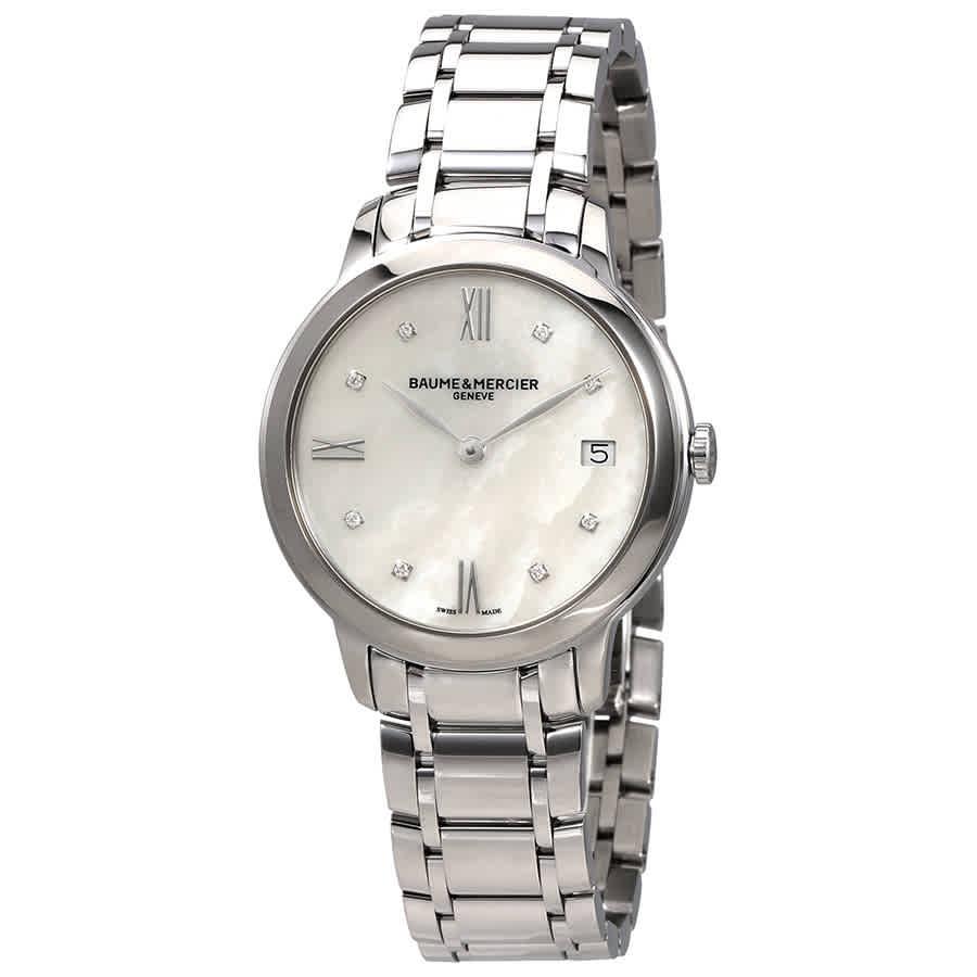 Baume Et Mercier Classima Mother Of Pearl Dial Ladies Watch Moa10326 In Metallic