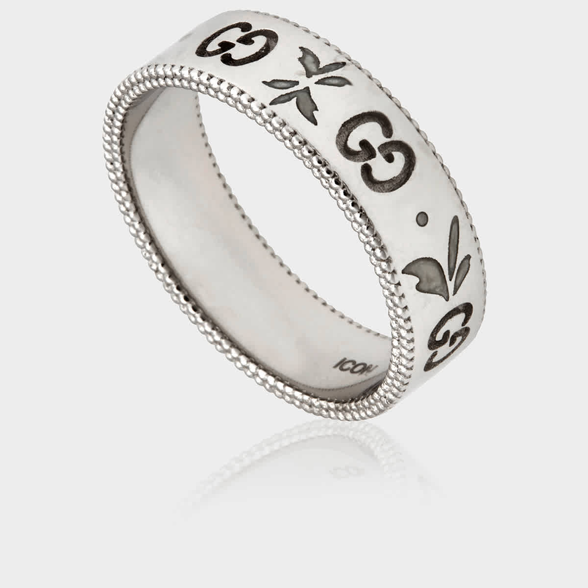 Gucci Icon Blooms Ring Size: 6 1/2 Us In Metallic