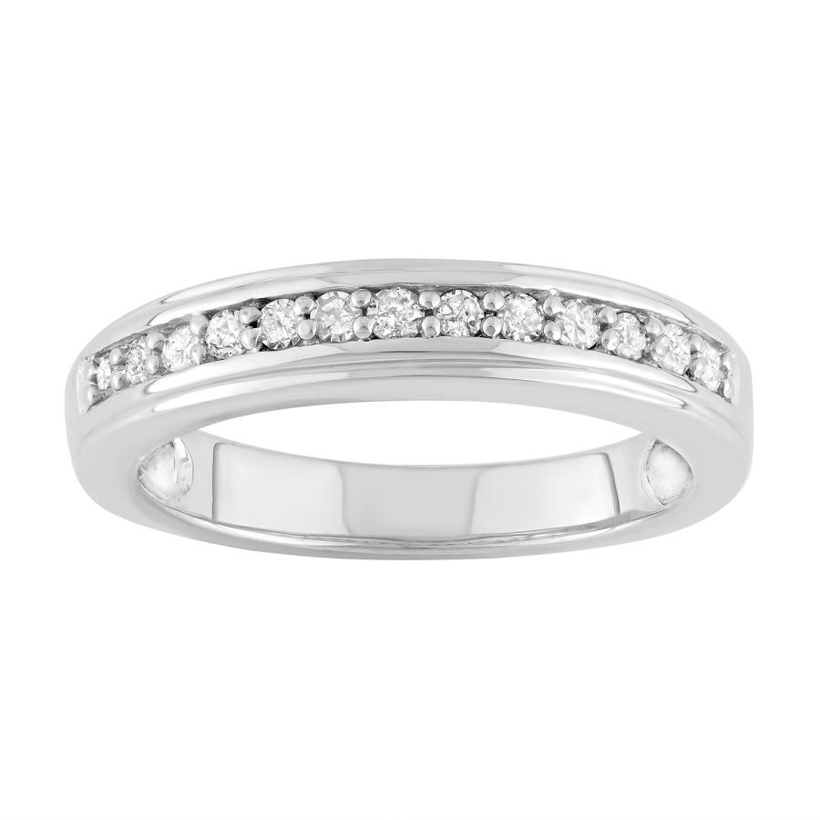 Hetal Diamonds 1/4 Cttw Diamond Band In Sterling Silver In Metallic