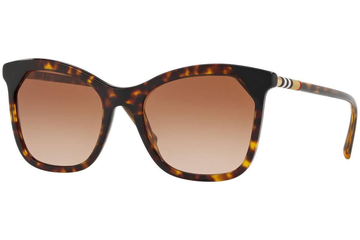 Burberry Brown Gradient Cat Eye Ladies Sunglasses Be4263f-370813-54 In Black,brown