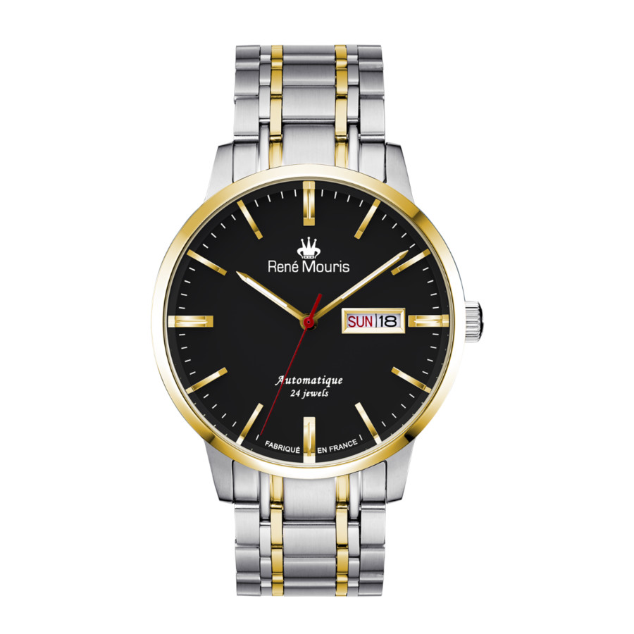 Rene Mouris Noblesse Automatic Black Dial Mens Watch 10107rm2 In Metallic